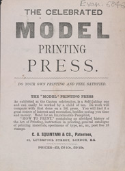 Advert for the Model Printing Press
